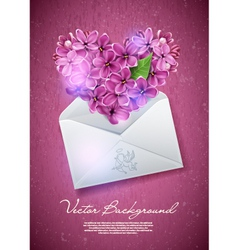 Valentines heart from flowers vector