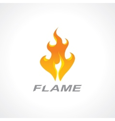 Flaming fire vector