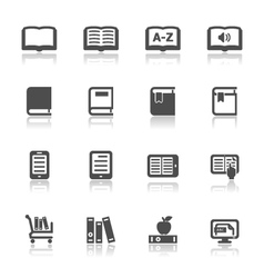 Book icons with white background vector