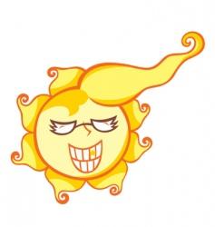 Mr sun shine vector
