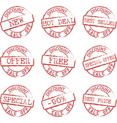 Grunge commercial stamps set vector