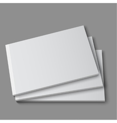 Blank empty magazine album or book vector