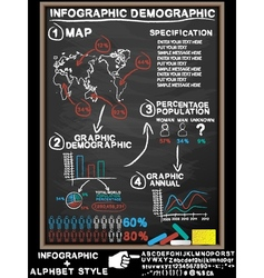 Infographic blackboard vector