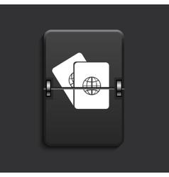 Modern scoreboard black icon vector