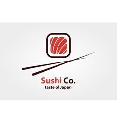 Logo design element sushi restaurant vector