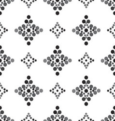 Seamless diamond patterned gray and black vector