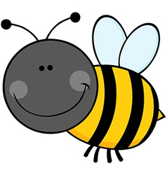 Bumble bee cartoon character flying vector