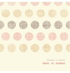 Vintage textile polka dots horizontal frame vector