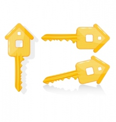 House key illustration vector