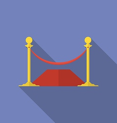 Icon of rope barrier flat style vector