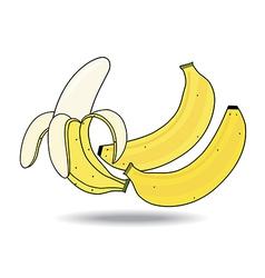 Banana on white background vector