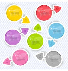 Abstract arrows elements for infographic vector