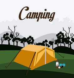 Camping design vector
