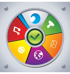 Interface - choose social media icon vector
