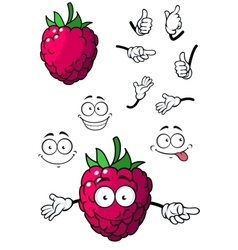 Goofy little cartoon raspberry vector