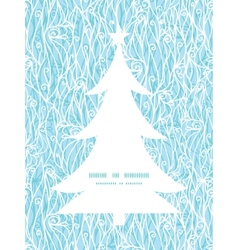 Abstract frost swirls texture christmas tree vector
