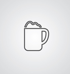 Cappuccino outline symbol dark on white background vector