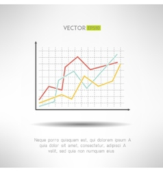 Economic finance graphics chart icon market sale vector