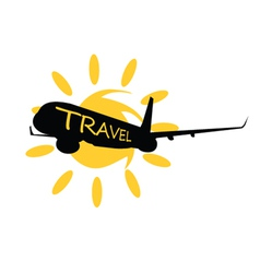 Travel with airplane vector