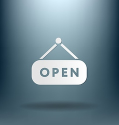 Open label sign symbol sign icon open vector