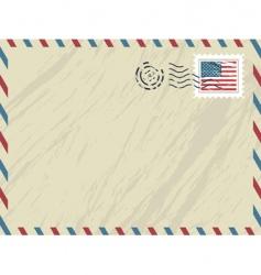 American airmail envelope vector
