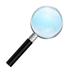 Isolated realistic magnifying vector