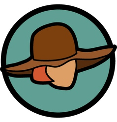 Figure in a hat vector