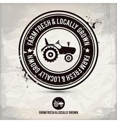 Alternative farm fresh locally grown stamp vector