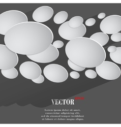Abstract flat modern web button with long shadow vector