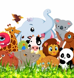 Wild animals background vector