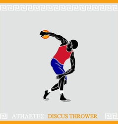 Athlete discus thrower vector