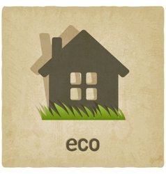 Eco house old background vector