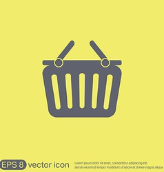 Shopping cart icon vextor vector