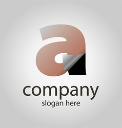 Logo with a transparent letter a vector