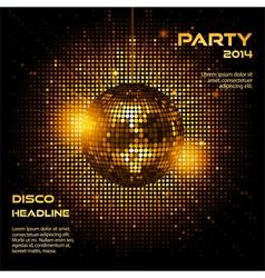 Disco ball party background ai vector