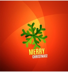 Modern abstract christmas card vector