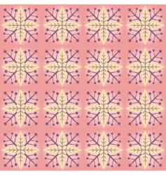 Abstract snowflake pattern vector
