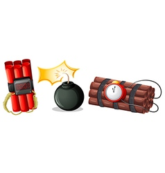 Explosive bombs vector