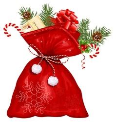 Christmas sack with presents vector