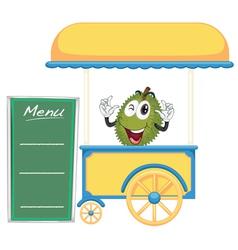 A cart stall and a jackfruit vector