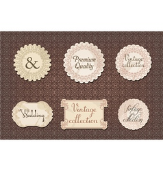 Vintage labels collection vector