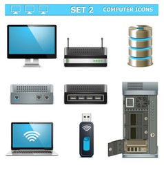 Computer icons set 2 vector