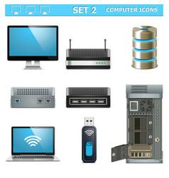 Computer icons set 2 vector