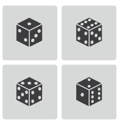 Black castle icons set vector