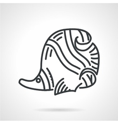 Black line icon for butterflyfish vector