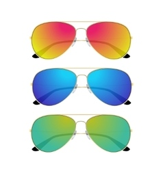 Aviator sunglasses isolated on white background vector