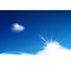 Bright blue sky vector