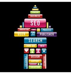 Internet seo arrow up vector