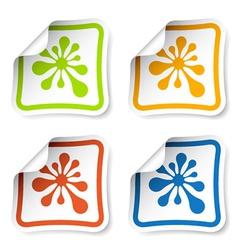 Ink blot stickers vector