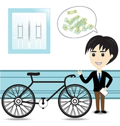 Bicycle salesman vector